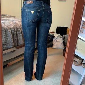 Guess Dark Skinny Leg Jeans